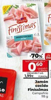 Oferta de Jamón cocido Campofrío por 1,95€