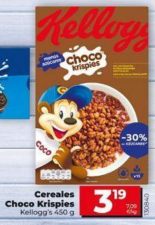 Oferta de Cereales Choco Krispies Kellogg's por 3,29€