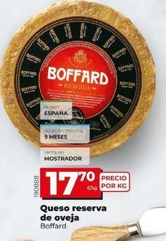 Oferta de Queso de oveja por 17,7€