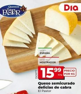 Oferta de Queso semicurado El Pastor por 15,99€