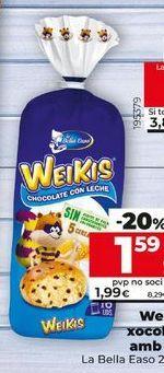 Oferta de Bollería Weikis por 1,99€