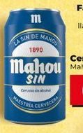 Oferta de Cerveza sin alcohol Mahou por 0,59€