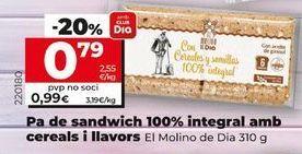 Oferta de Pan de molde integral Dia por 0,79€
