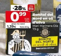 Oferta de Bonito del norte en aceite de oliva Dia por 0,99€