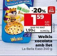Oferta de Bollería Weikis por 1,59€