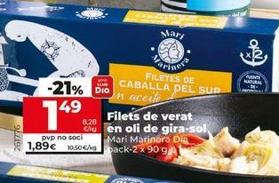 Oferta de Filetes de caballa Dia por 1,49€