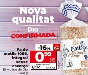 Oferta de Pan de molde integral Dia por 0,99€