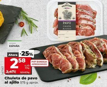 Oferta de Chuletas de pavo por 2,58€