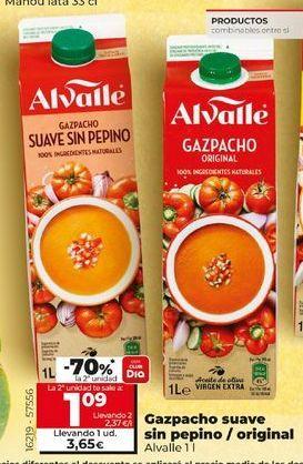 Oferta de Gazpacho Alvalle por 3,59€