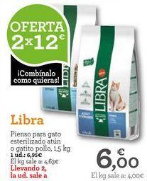 Oferta de Comida para gatos Libra por 6,95€