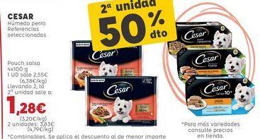 Oferta de Comida para perros Cesar por 2,55€