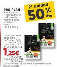 Oferta de Snacks para mascotas Pro plan por 2,5€