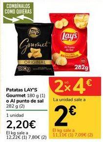 Oferta de Patatas LAY'S Gourmet o Al punto de sal por 2,2€