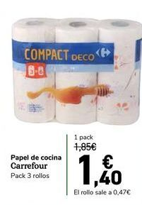 Oferta de Papel de cocina Carrefour por 1,4€