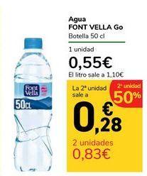 Oferta de Agua FONT VELLA Go por 0,55€