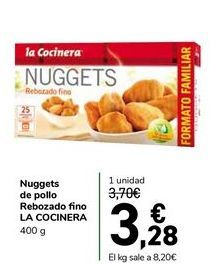 Oferta de Nuggets de pollo Rebozado fino LA COCINERA por 3,28€
