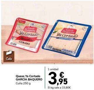 Oferta de Queso Ya Cortado GARCÍA BAQUERO por 3,95€
