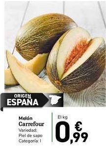 Oferta de Melón Carrefour por 0,99€