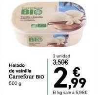 Oferta de Helado de vainilla Carrefour BIO por 2,99€