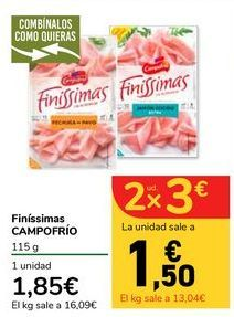 Oferta de Finíssimas CAMPOFRÍO por 1,85€