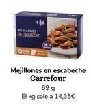 Oferta de Mejillones en escabeche Carrefour por
