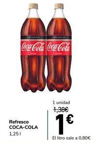 Oferta de Refresco COCA-COLA por 1€
