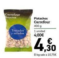 Oferta de Pistachos Carrefour por 4,3€