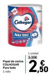 Oferta de Papel de cocina COLHOGAR Para todo por 2,5€