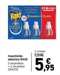 Oferta de Insecticida eléctrico RAID por 5,95€