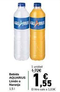 Oferta de Bebida AQUARIUS Limón o Naranja por 1,55€