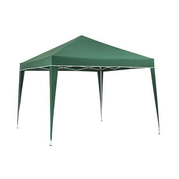 Oferta de Carpa plegable verde con bolsa de transporte 2,6 x 3 x 3 m por 44,95€