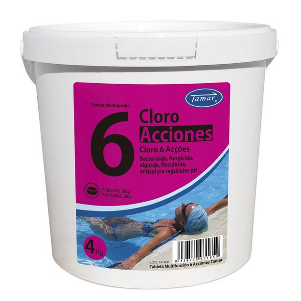 Oferta de CLORO 6 ACCIONES 4 KG por 13,95€