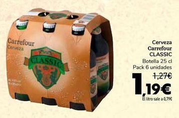 Oferta de Cerveza Carrefour CLASSIC por 1,19€