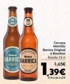 Oferta de Cerveza MAHOU Barrica original o Bourbon por 1,39€
