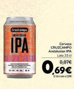 Oferta de Cerveza CRUZCAMPO Andalusian IPA por 0,69€