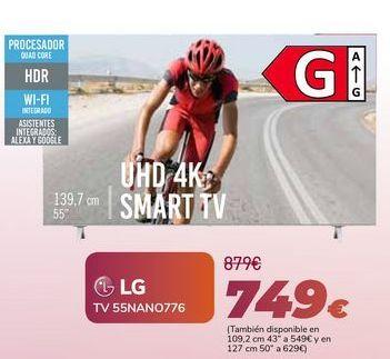 Oferta de LG TV 55NANO776 por 749€