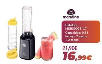 Oferta de MANDINE Batidora MSB3002B-17 por 16,99€
