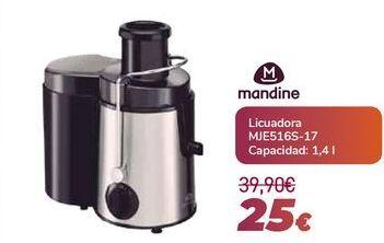 Oferta de MANDINE Licuadora MJE516S-17 por 25€