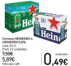 Oferta de Cerveza HEINEKEN o HEINEKEN 0,0%  por 5,89€