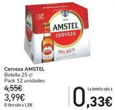 Oferta de Cerveza AMSTEL  por 3,99€