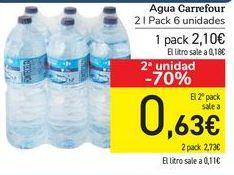Oferta de Agua Carrefour  por 2,1€