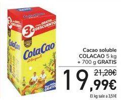 Oferta de Cacao soluble COLA CAO por 19,99€