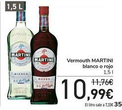 Oferta de Vermouth MARTINI Blanco o rojo  por 10,99€