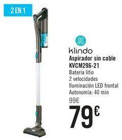 Oferta de Klindo Aspirador sin cable KVCM296-21 por 79€