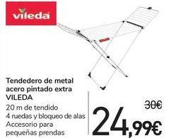 Oferta de Tendedero de metal acero pintando extra VILEDA  por 24,99€