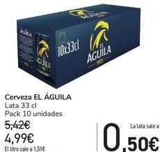 Oferta de Cerveza EL ÁGUILA  por 4,99€