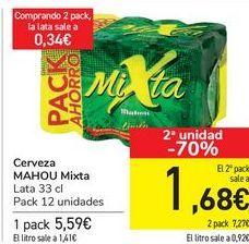 Oferta de Cerveza MAHOU mixta  por 5,59€