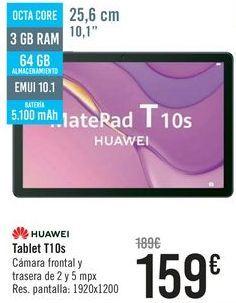 Oferta de HUAWEI Tablet T10s por 159€
