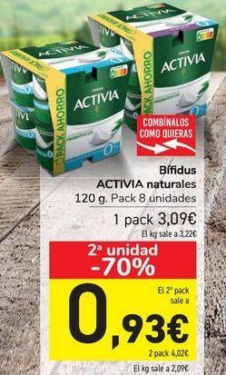 Oferta de Bífidus ACTIVIA naturales por 3,09€