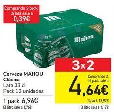 Oferta de Cerveza MAHOU Clásica  por 6,96€
